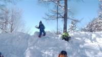 最後まで雪遊び